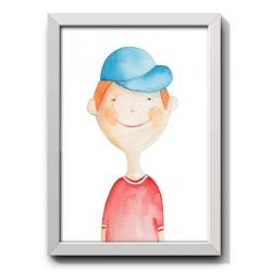 boy with blue hat